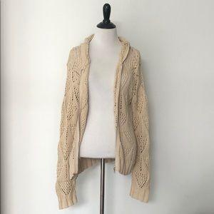 knit zip up cardigan